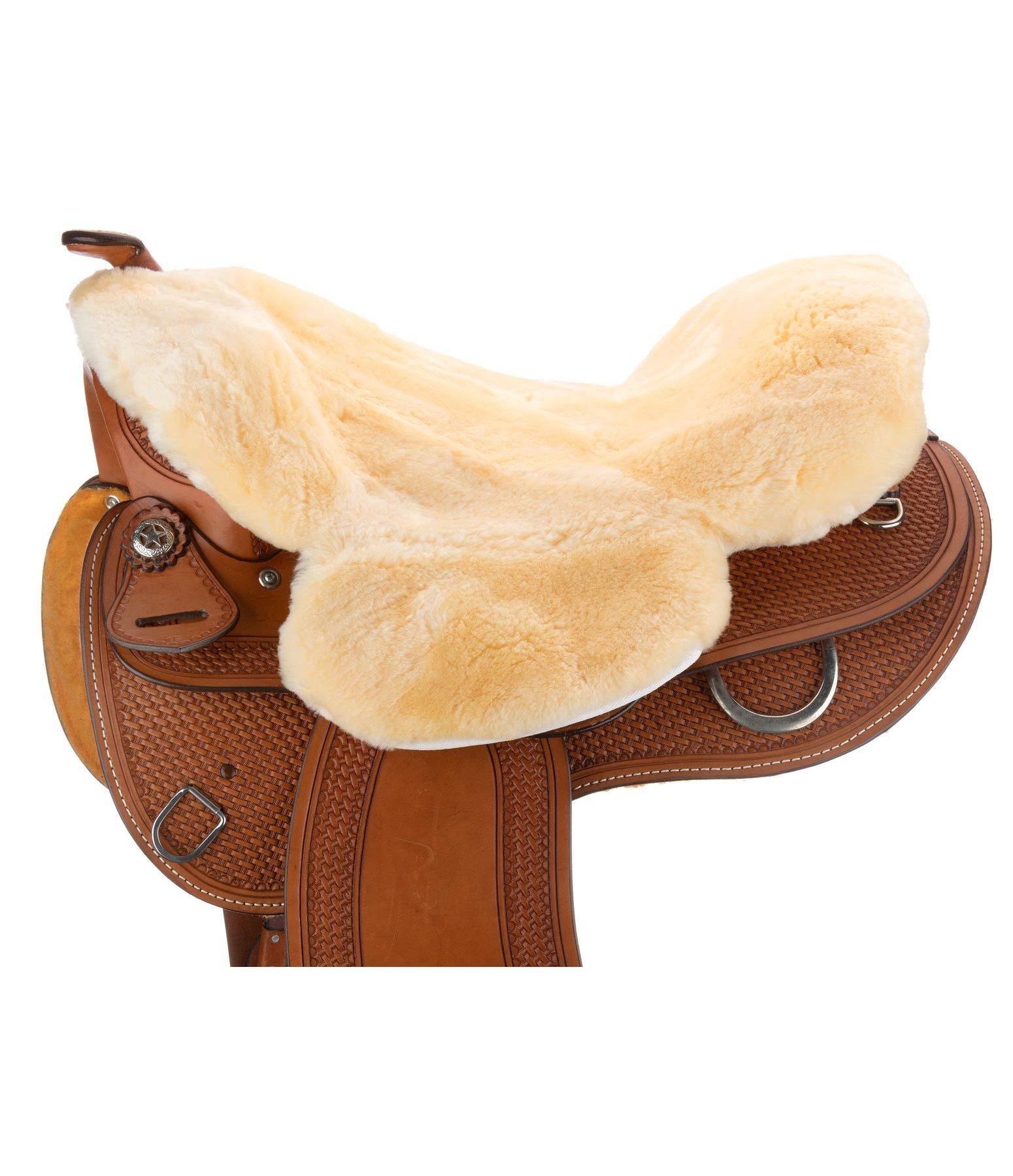fourrure de selle en peau d 39 agneau avec pommeau accessoires selles western kramer equitation. Black Bedroom Furniture Sets. Home Design Ideas