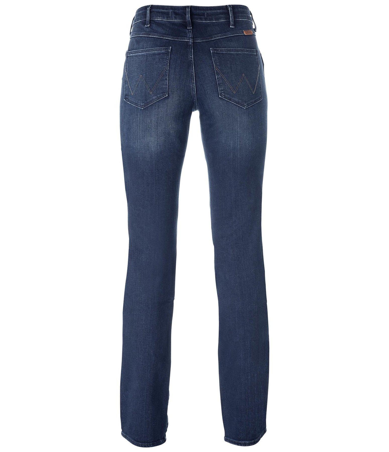 jeans wrangler sara narrow star blue jeans pour femme kramer equitation. Black Bedroom Furniture Sets. Home Design Ideas