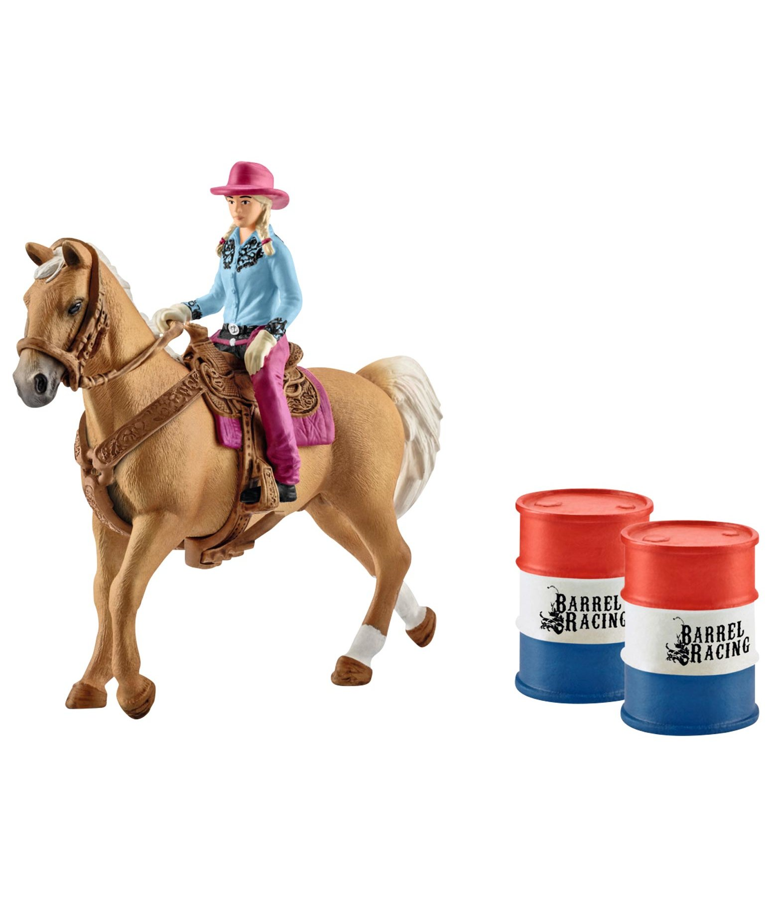 Set Barrel racing avec cowgirl