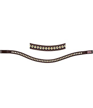 CLARIDGE HOUSE Frontal en cuir avec pierres Swarovski®  Mix & Match Shimmer - 320705