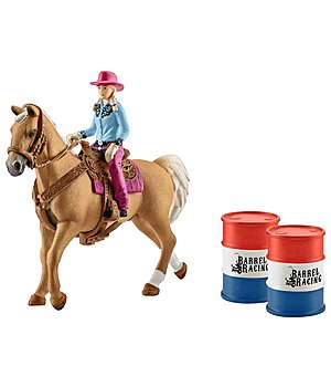 Schleich Set Barrel racing avec cowgirl - 660867