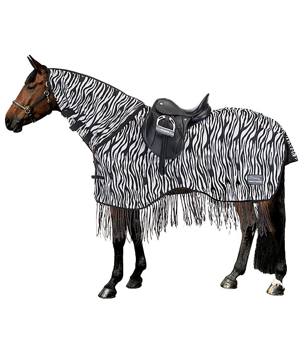 THERMO MASTER Couvre-reins anti-mouches  Zebra avec franges - 422066-145-WS